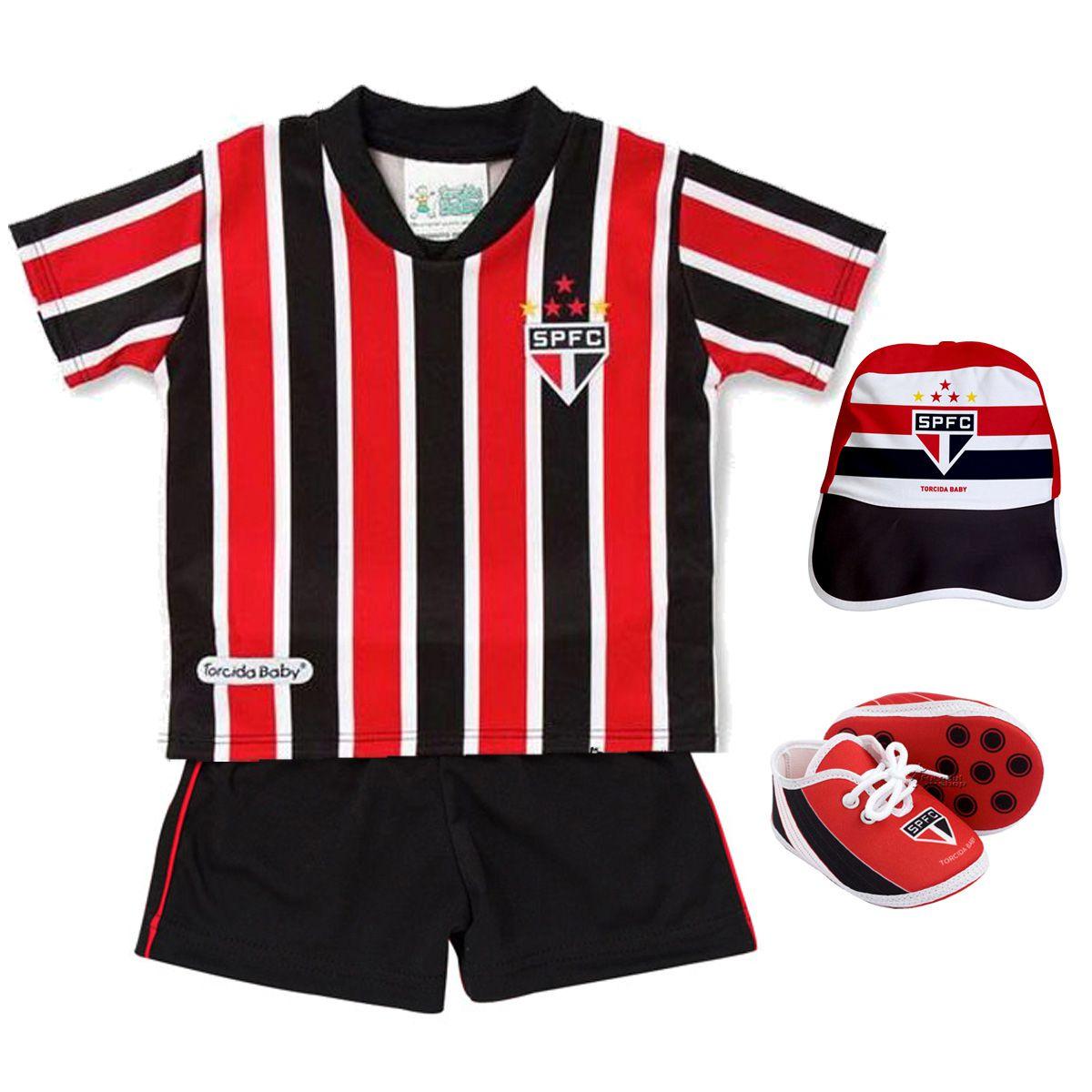 Kit Uniforme Bebê do São Paulo Torcida Baby - 015s