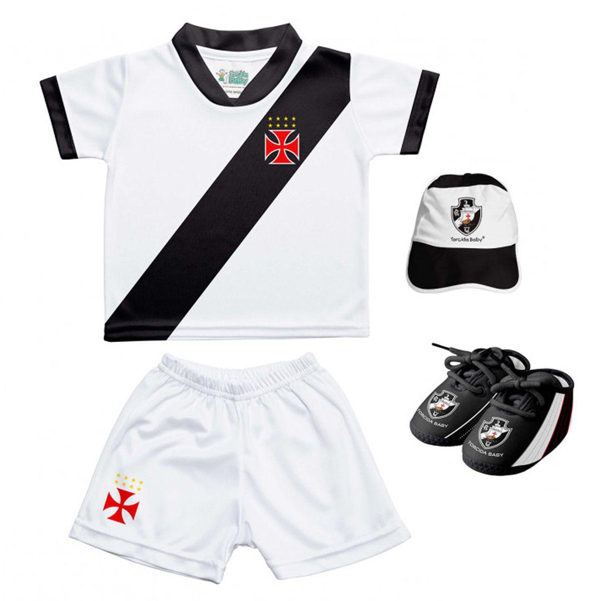 Kit Uniforme Bebê do Vasco da Gama Torcida Baby - 015S
