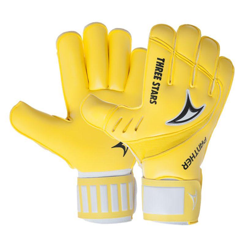Luva Goleiro Futebol Three Stars Panther - Amarela