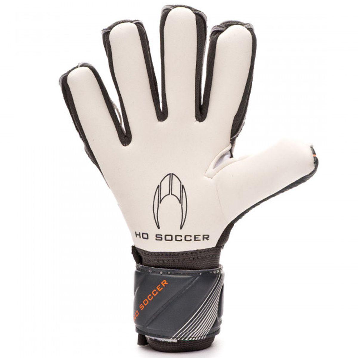 Luva Goleiro HO Soccer Clone Supremo II Grey Orange 9406