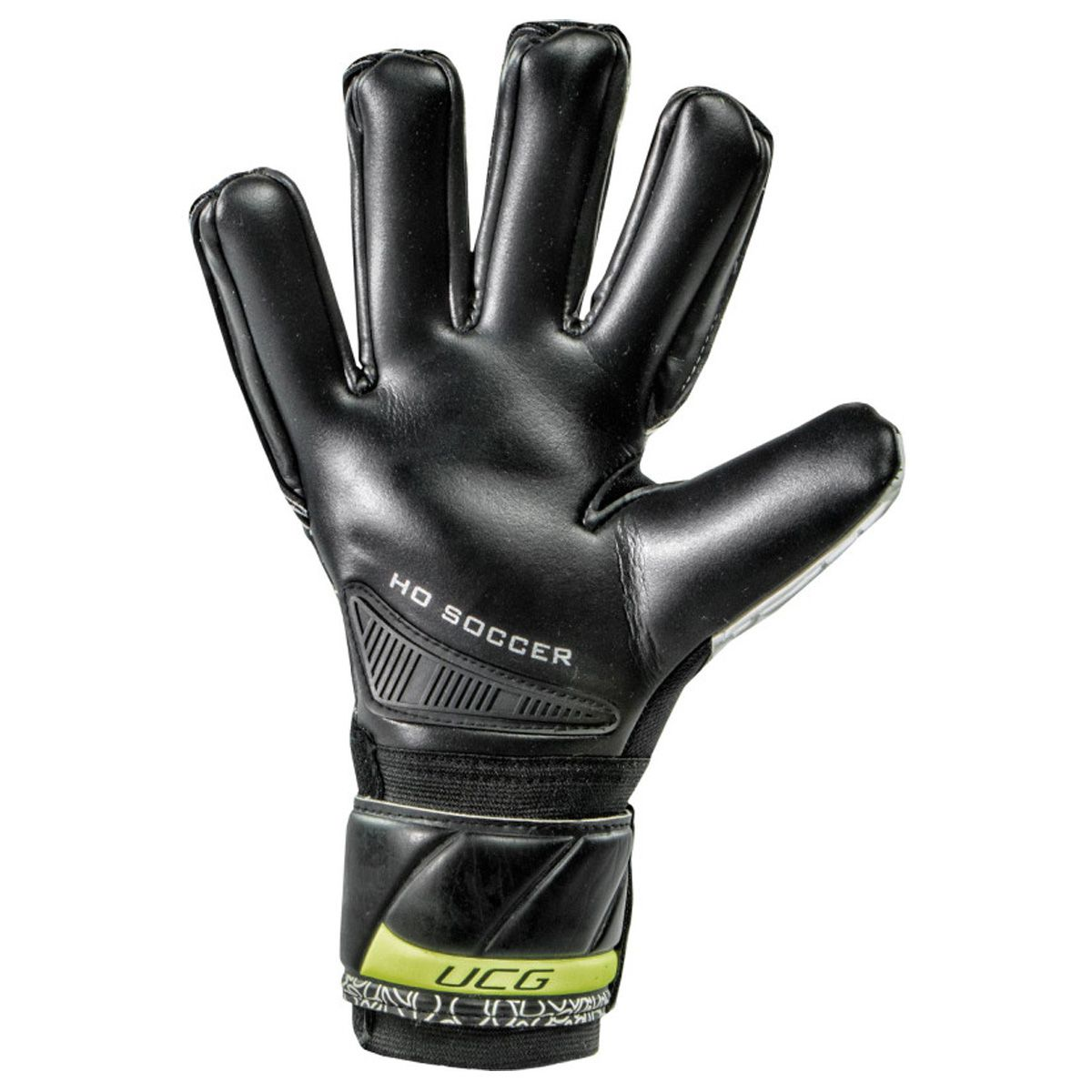 Luva Goleiro HO Soccer One Negative Black White Lime 9137