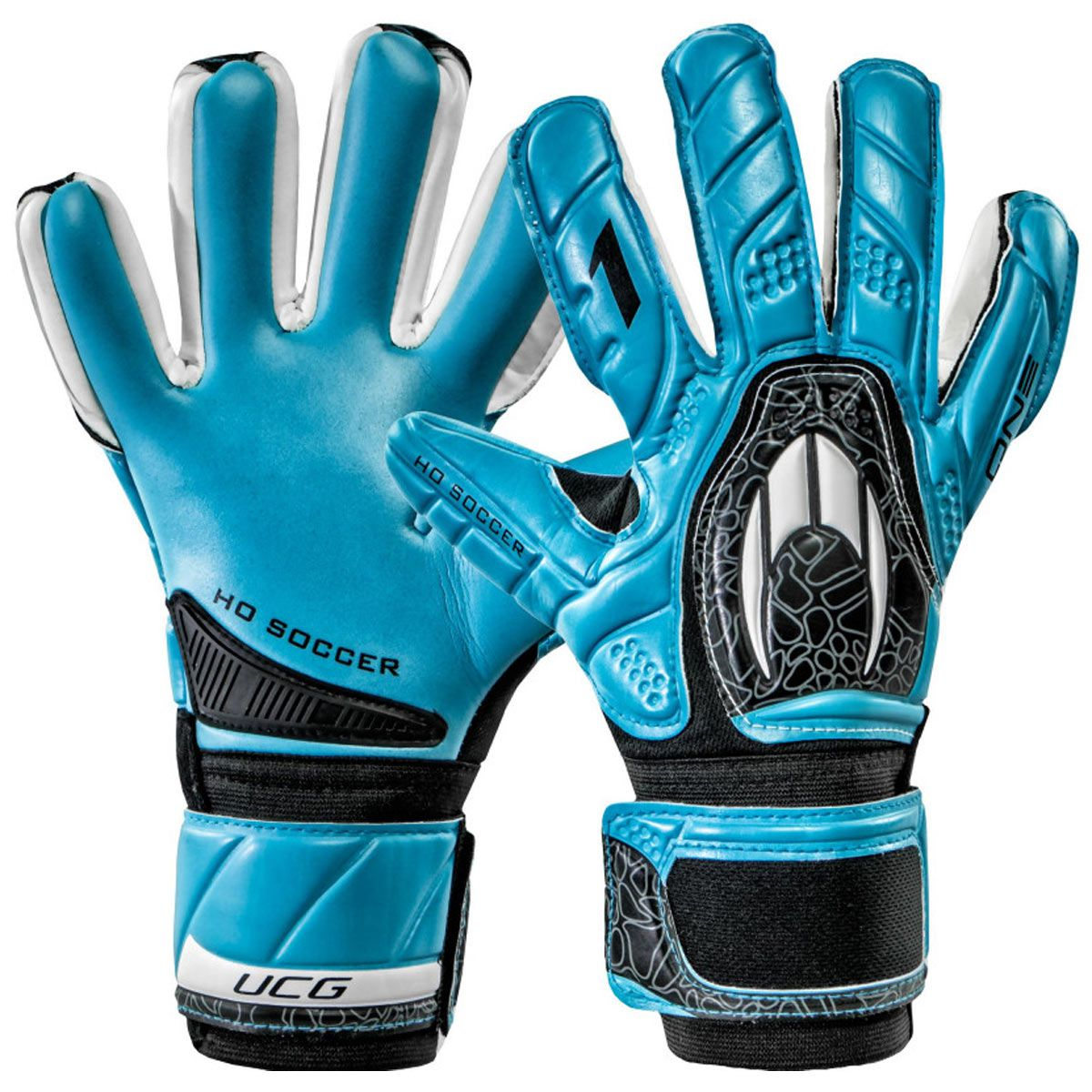 Luva Goleiro HO Soccer One Negative Blue 9138