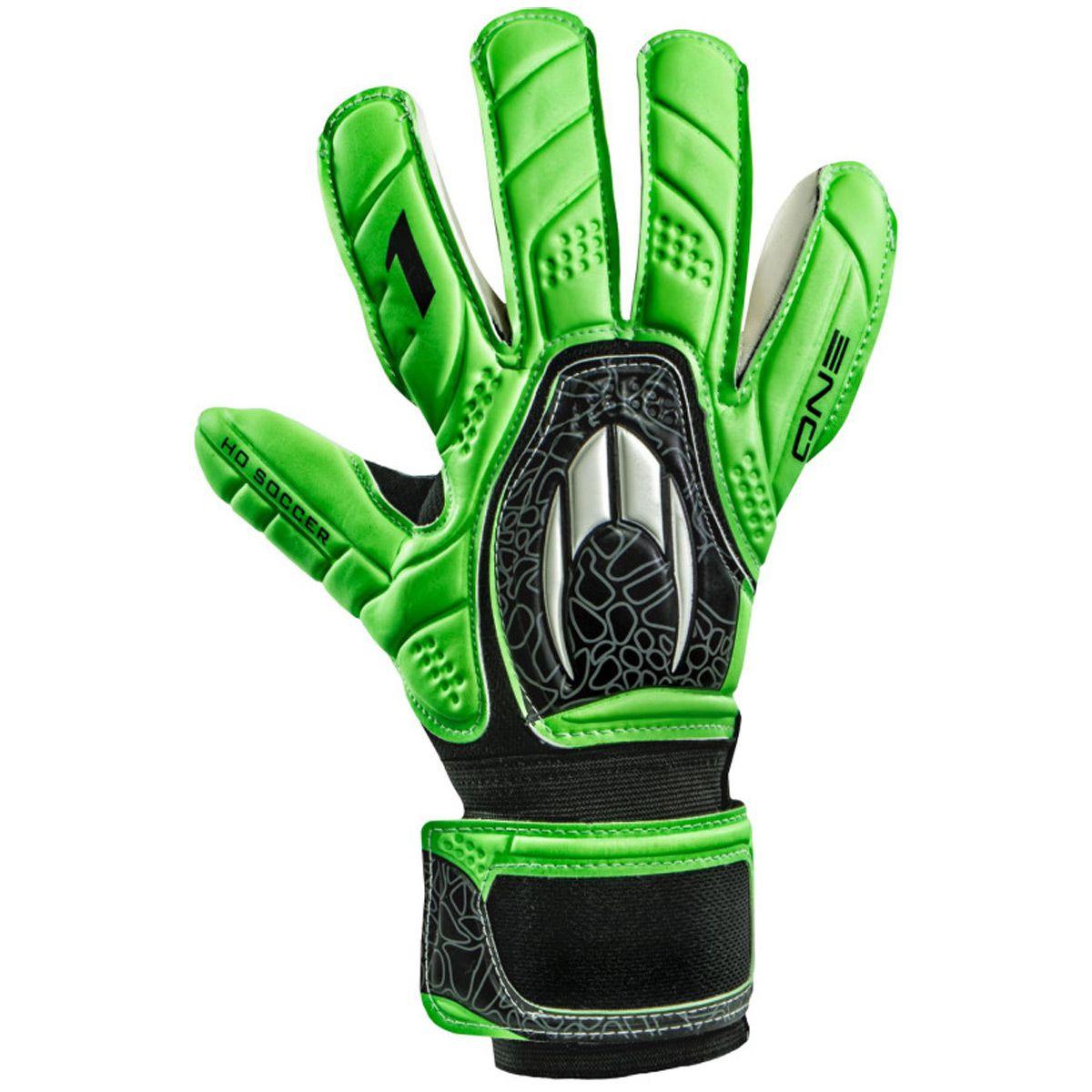 Luva Goleiro HO Soccer One Negative Green Black 9136