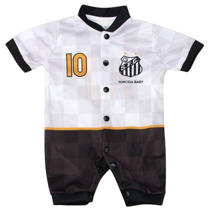 Macacão Curto Bebê do Santos Torcida Baby Estilo I - 005S