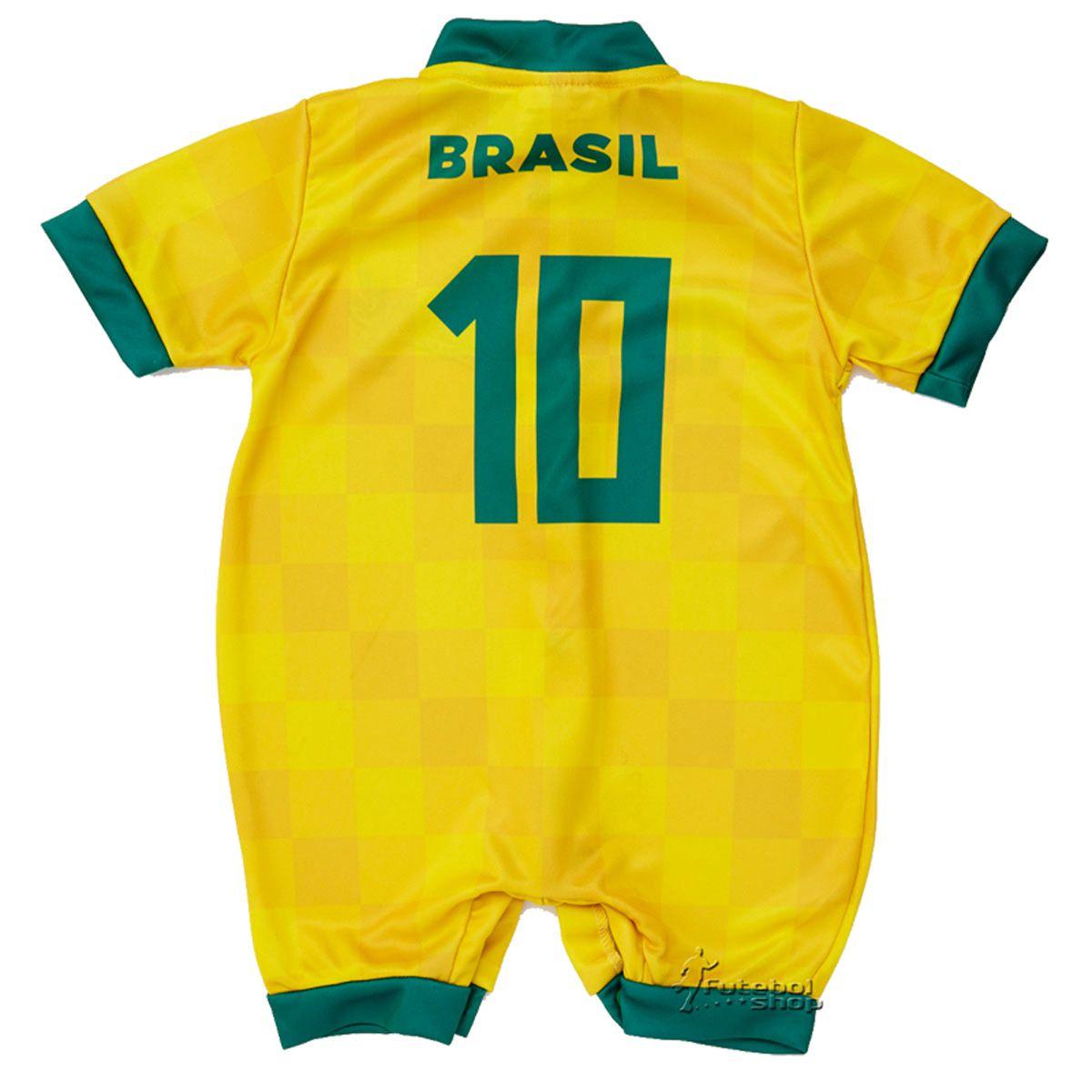 Macacão Curto Bebê Torcida Baby Brasil Estilo I - 005S