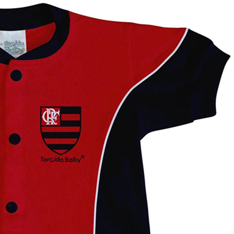 Macacão Curto Bebê Torcida Baby Flamengo - 005A