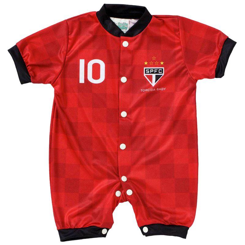 Macacão Curto Bebê Torcida Baby São Paulo Estilo I - 005S