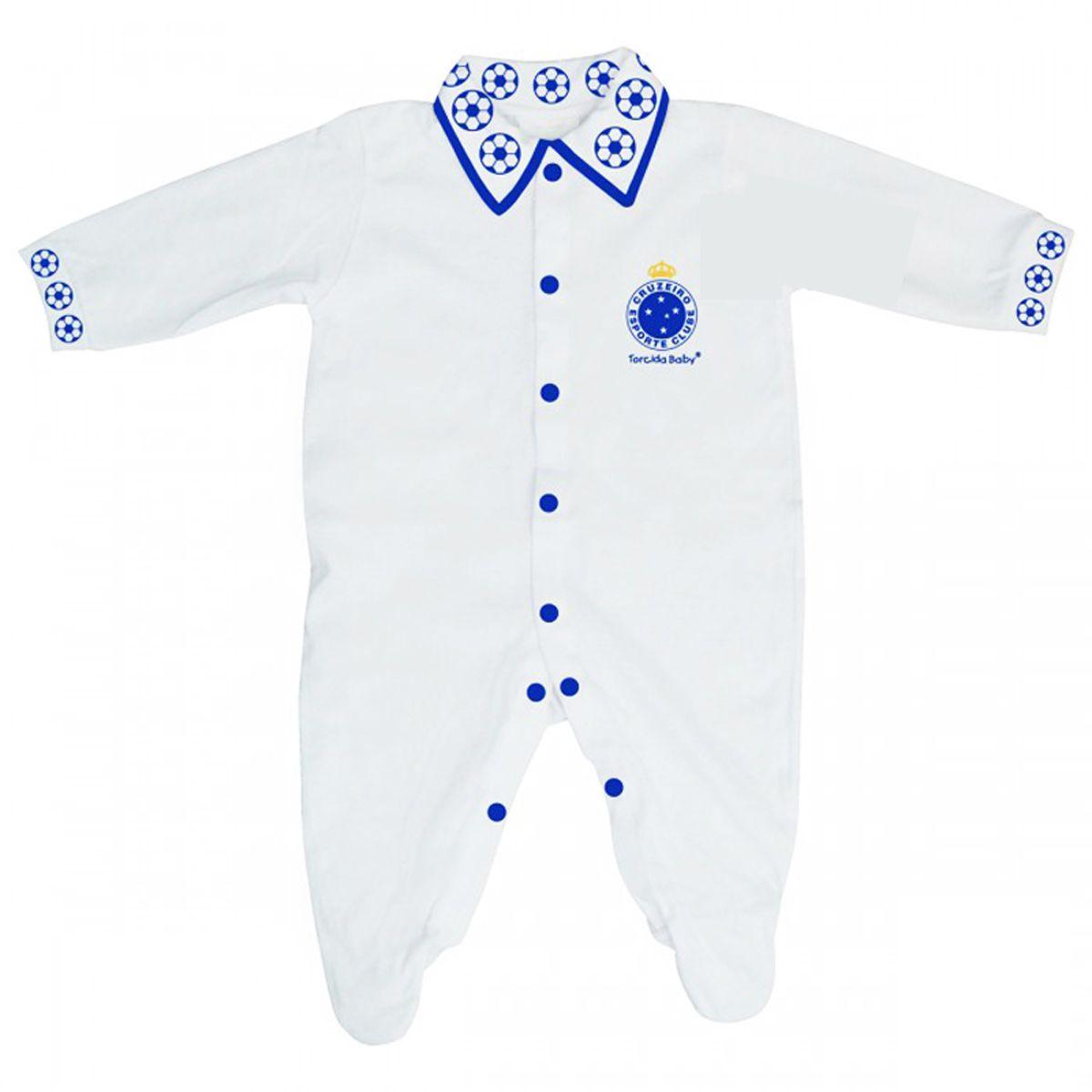 Macacão Longo de Bebê do Cruzeiro - 025