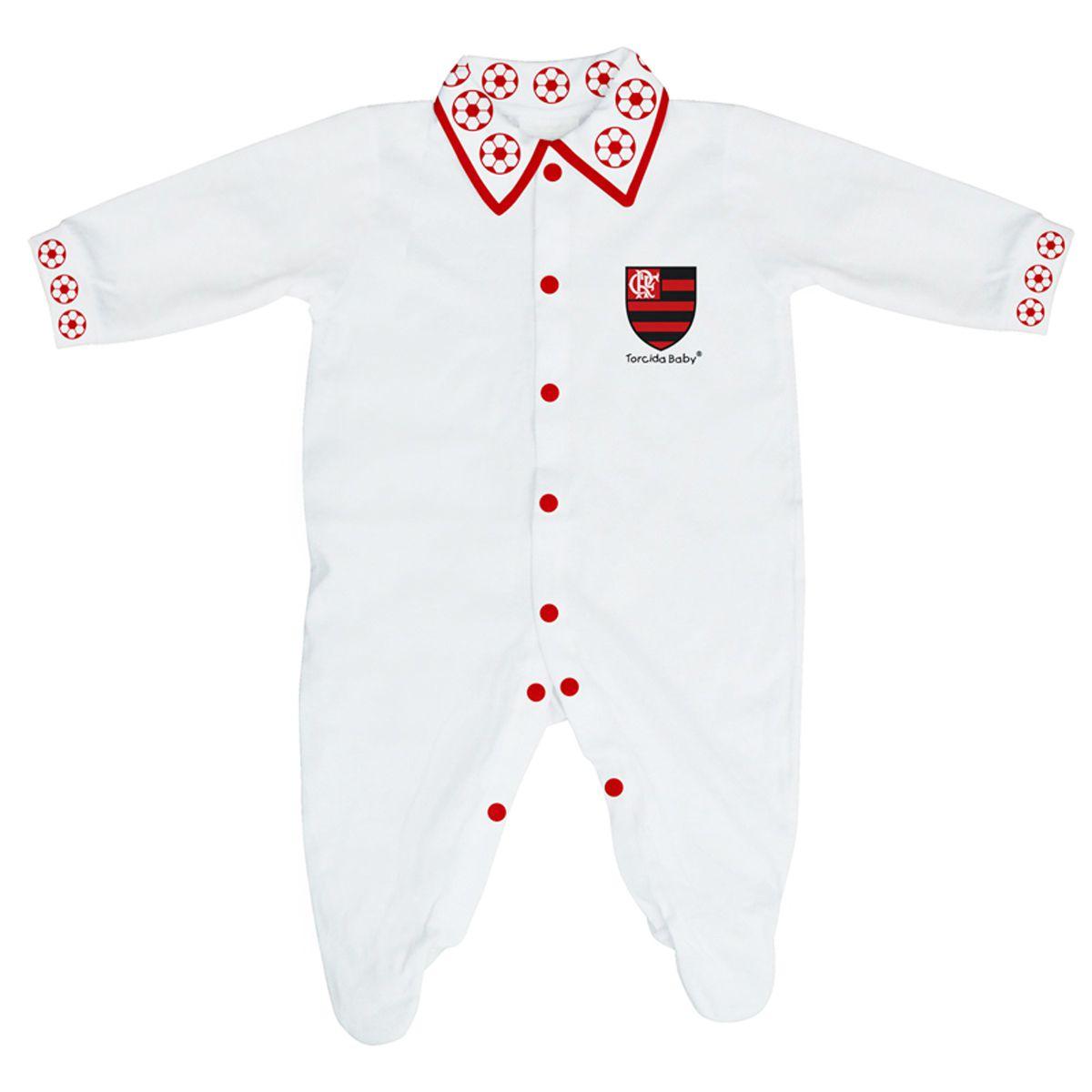 Macacão Longo de Bebê do Flamengo - 025