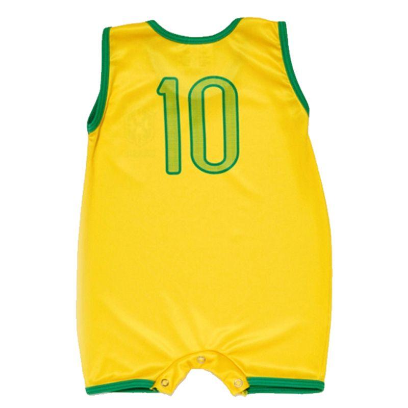 Macacão Regata Bebê do Brasil Sublimado - Torcida Baby 026S
