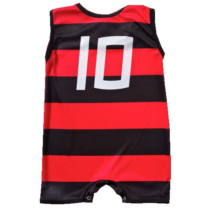 Macacão Regata Bebê do Flamengo Sublimado - Torcida Baby 026S