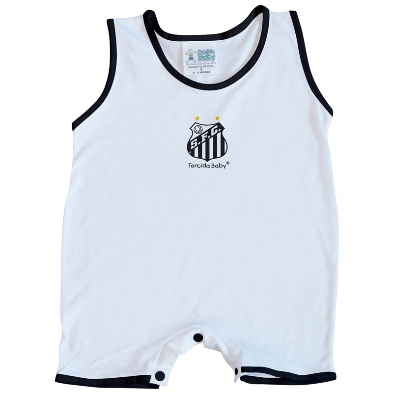 Macacão Regata Bebê do Santos - 026