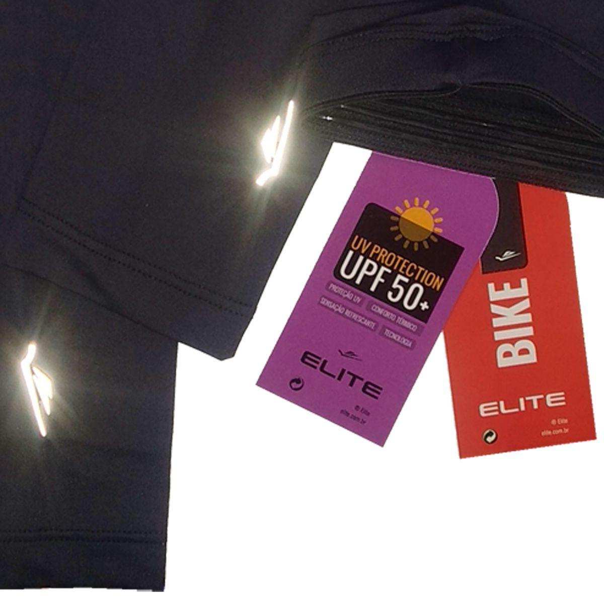 Manguito Elite Preto Uv Protection UPF 50+