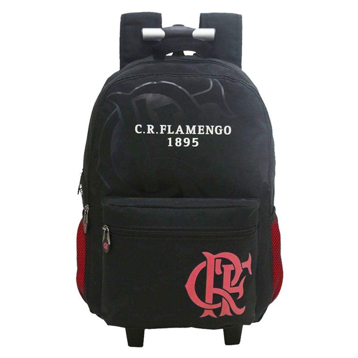 Mochila Escolar com Rodas do Flamengo Xeryus 8296