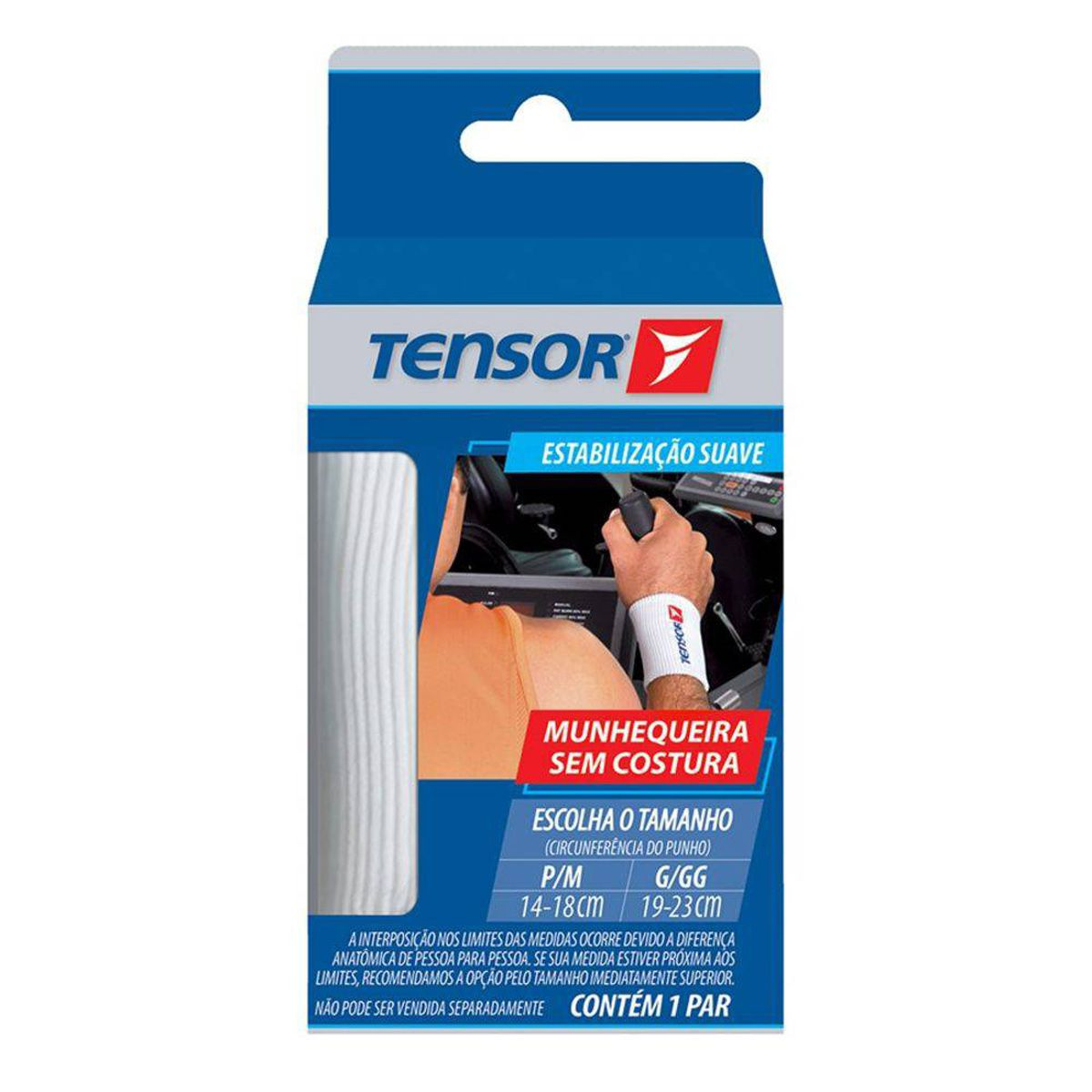 Munhequeira sem costura Tensor - 6703