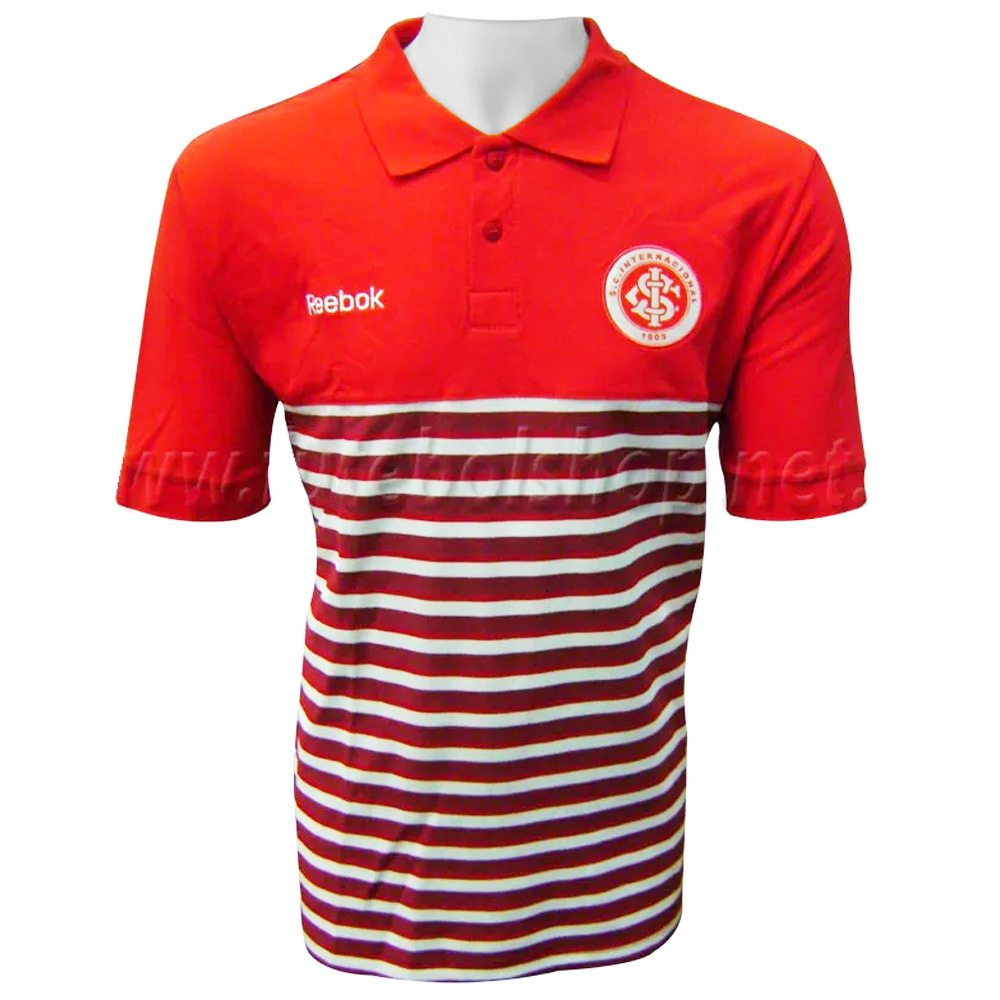 Pólo do Internacional Red Stripes Reebok - IN09009V