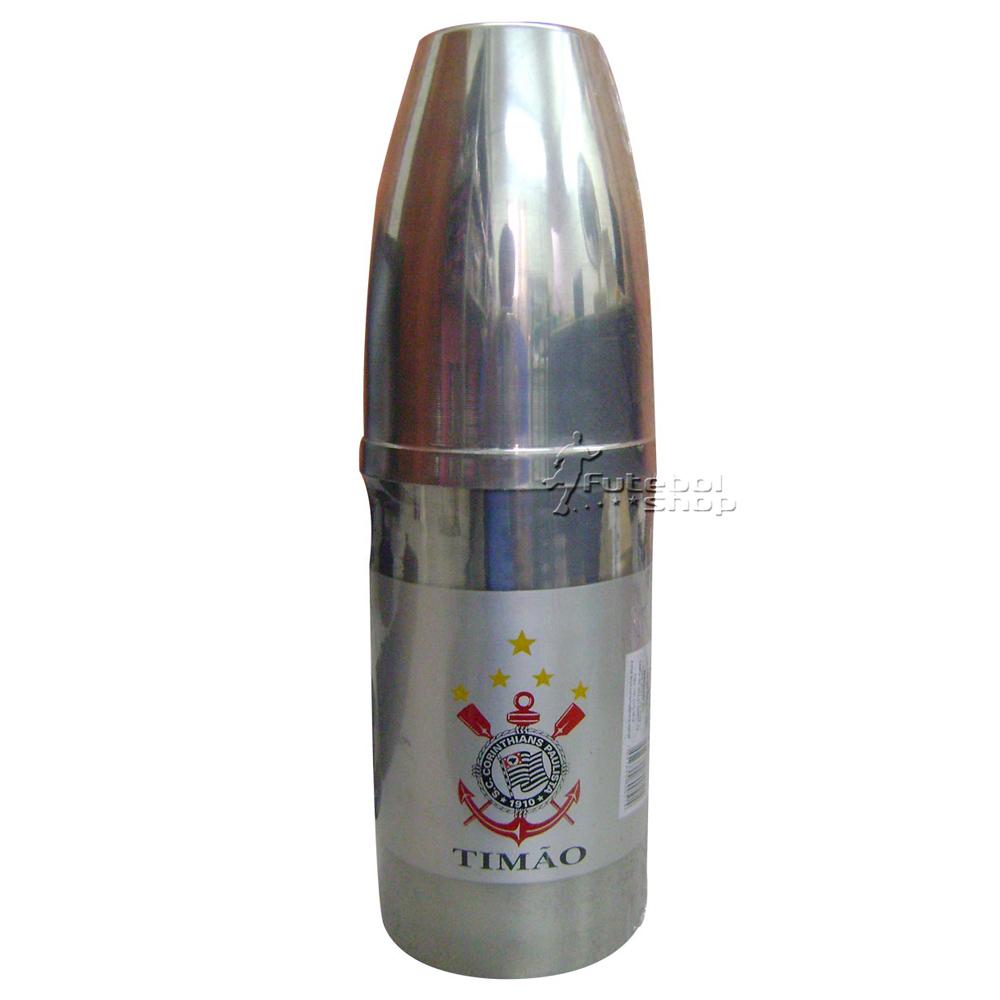 Porta Garrafa Térmico Master de Alumínio do Corinthians - 013C