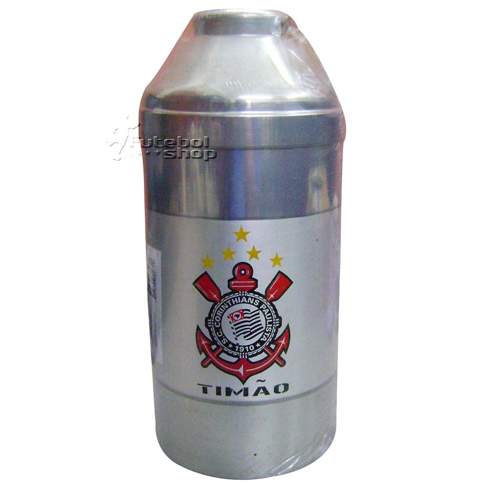 Porta Garrafa Térmico Prático de Alumínio do Corinthians - 012C