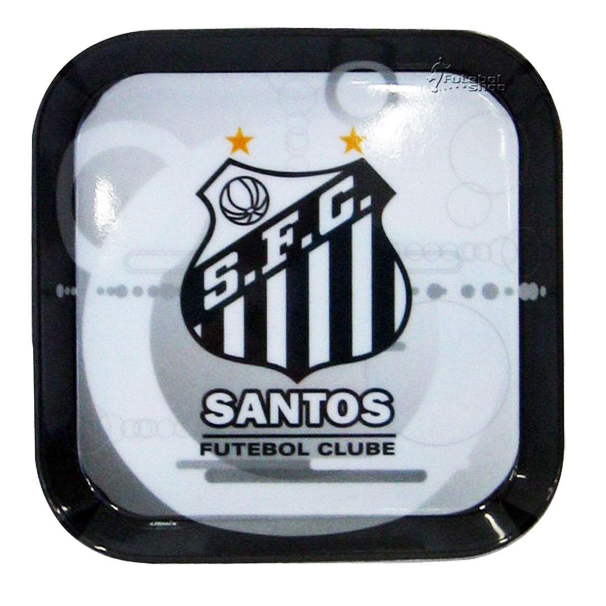 Prato para Aperitivo de Melamina do Santos F.C.