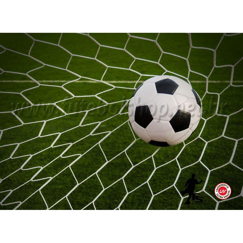 Rede de Futebol Suiço 5,20 x 2,30 metros Fio Seda 2 mm - Colmeia