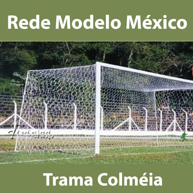 Rede Oficial de Futebol Modelo México (Caixote) Trama Colmeia Fio Seda 4 mm
