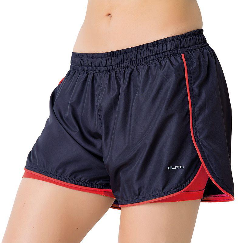 Short de Corrida Feminino Elite Running Marinho - 033658