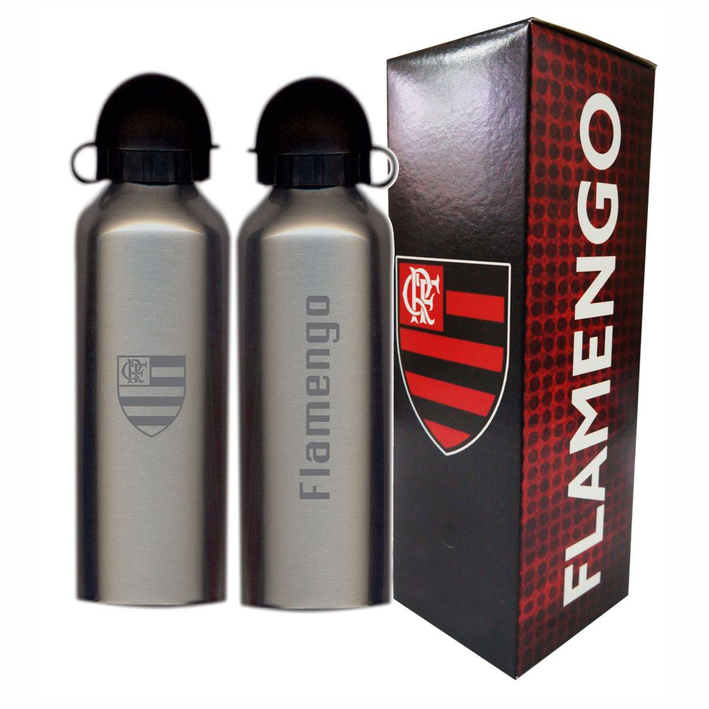 Squeeze do Flamengo 500ml - Inox Prata