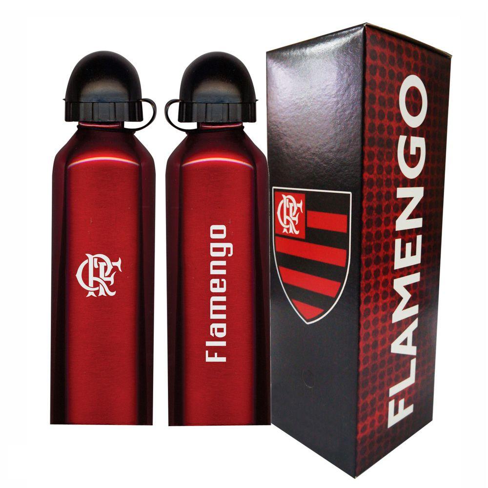 Squeeze do Flamengo 500ml - Inox Vermelho