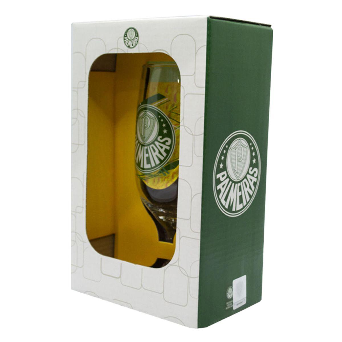 Taça de Cerveja do Palmeiras 300 ml em Caixa Personalizada