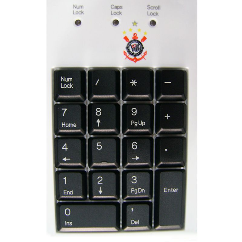 Teclado USB Multimídia do Corinthians