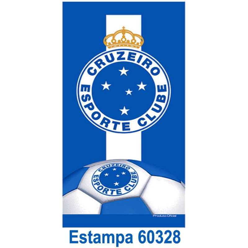 Toalha De Banho do Cruzeiro Buettner Bouton Veludo