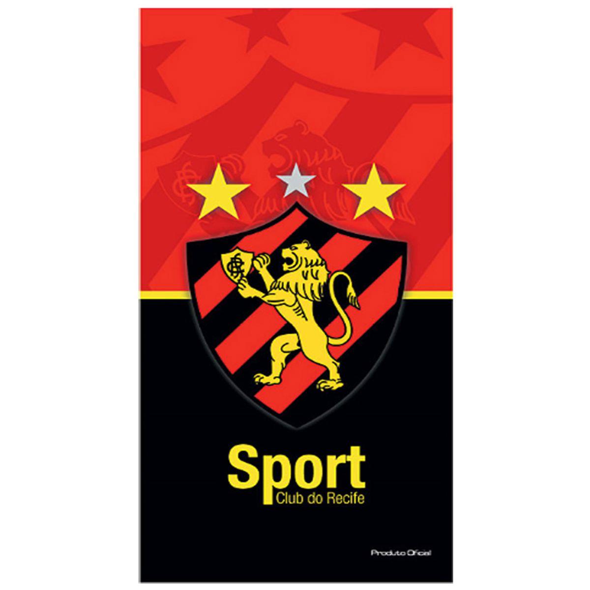 Toalha de Banho do Sport Recife Buettner Bouton Veludo 60836