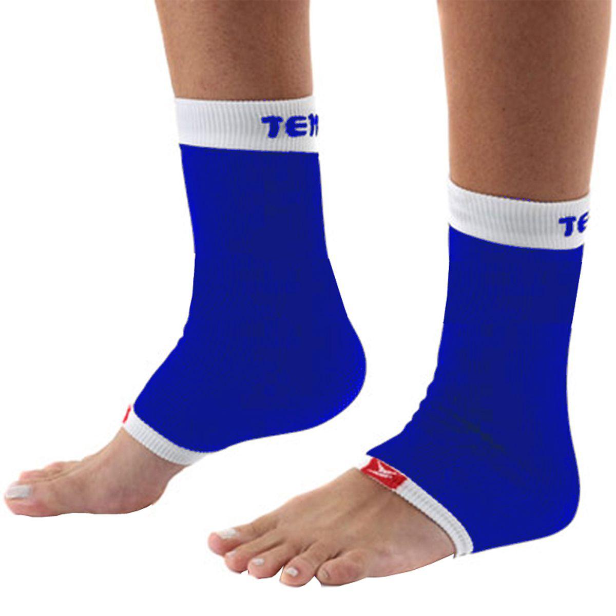 Tornozeleira Elástica Sem Costura  Tensor - 6402 - Azul