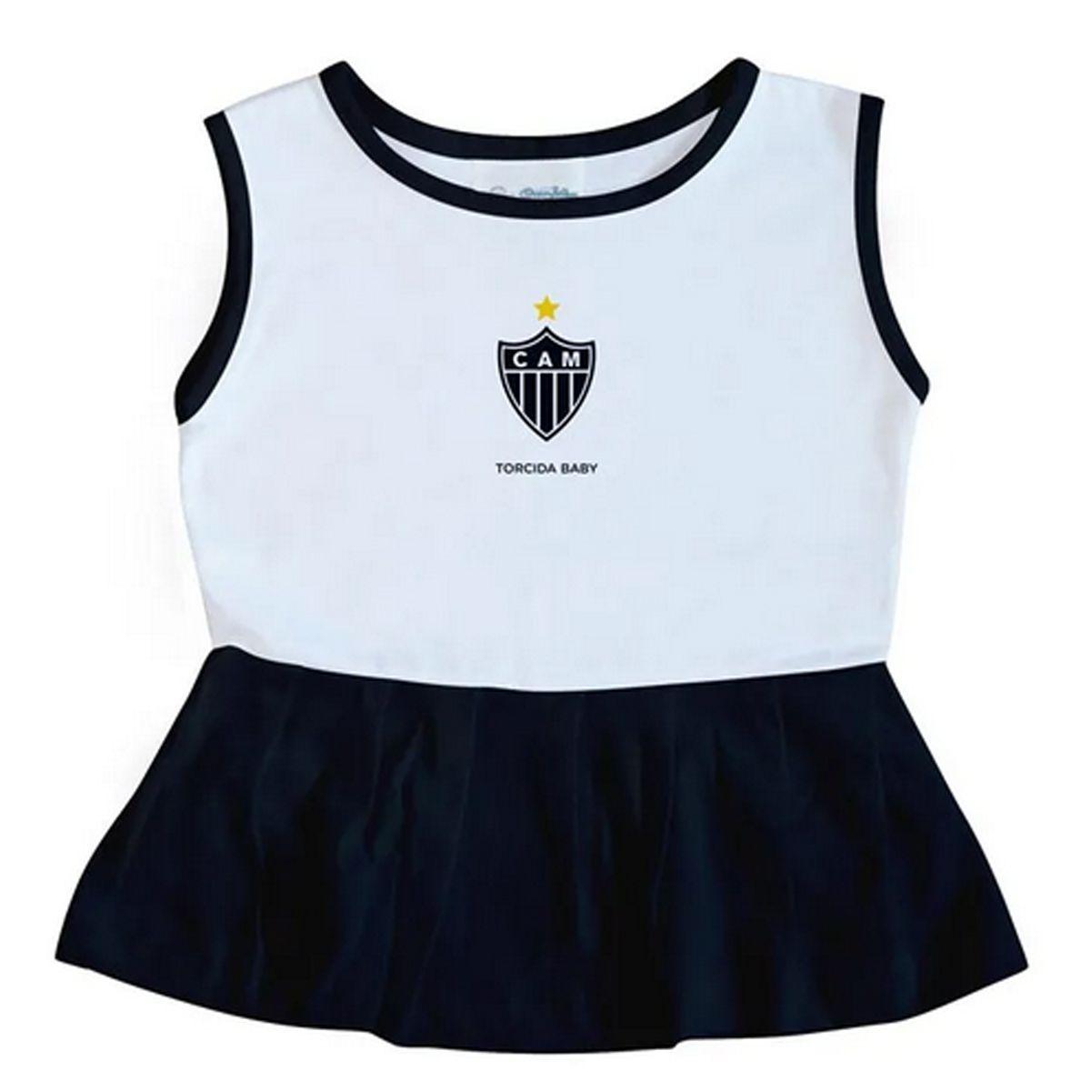 Vestido Bebê Alça Larga Atlético Mineiro - 005B