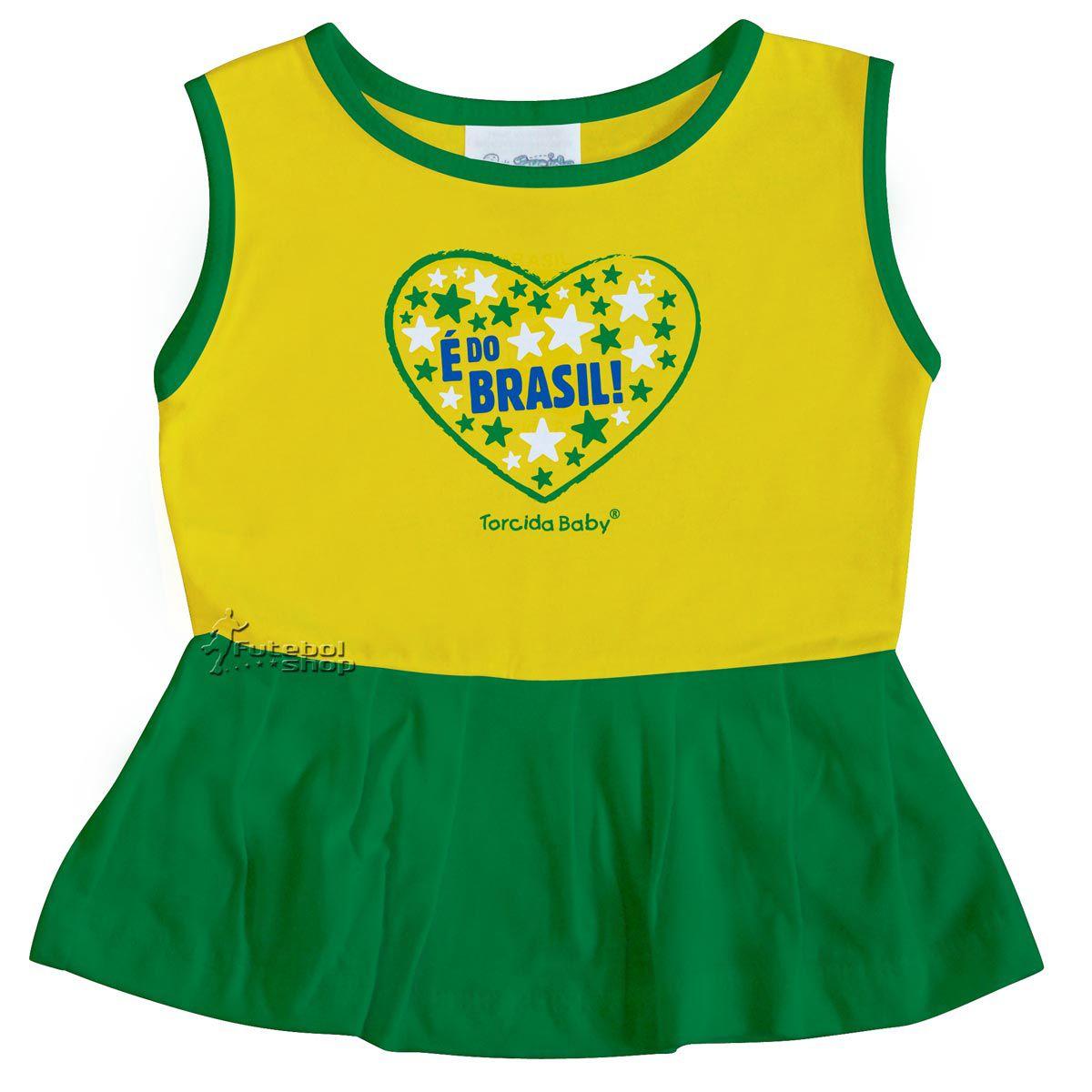 Vestido Bebê Alça larga Brasil - 005B