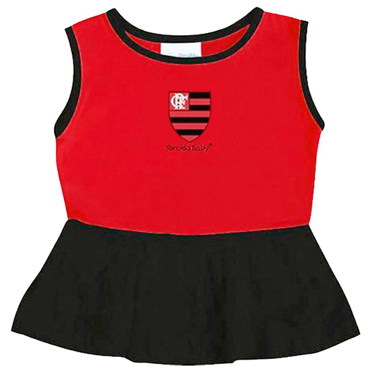 Vestido Bebê Alça larga Flamengo - 005B
