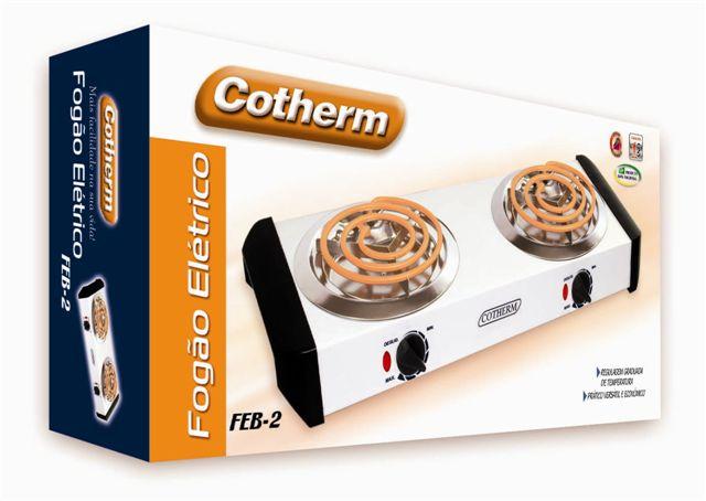 Fogão Elétrico Branco de 2 Bocas Cotherm FEB2 2000w  - Mix Eletro