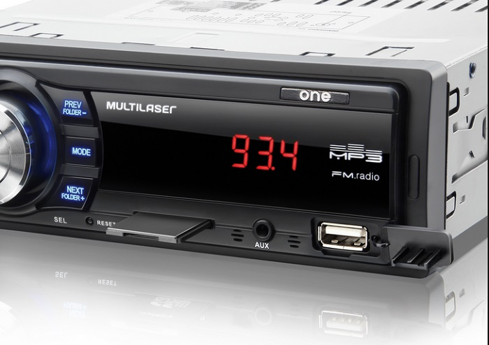 Som Rádio Automotivo One Multilaser Mp3, Fm, Sd, Aux, Usb  - Mix Eletro