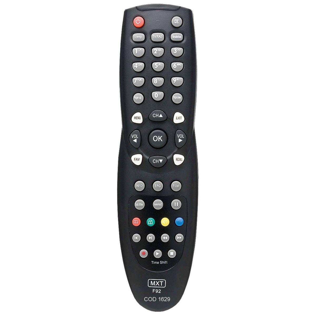 CONTROLE REMOTO PARA DECODIFICADOR DE TV AZAMÉRICA F92  - Mix Eletro