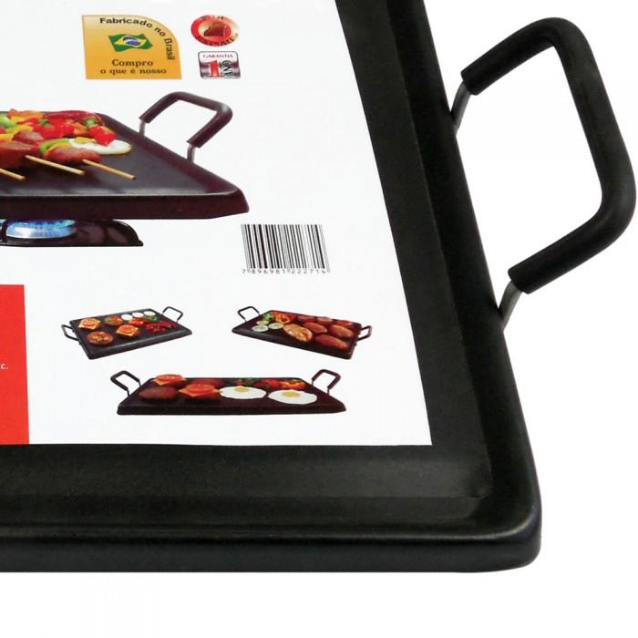 Chapa Grill e Lanches retangular antiaderente para fogão 46x32cm Cotherm  - Mix Eletro