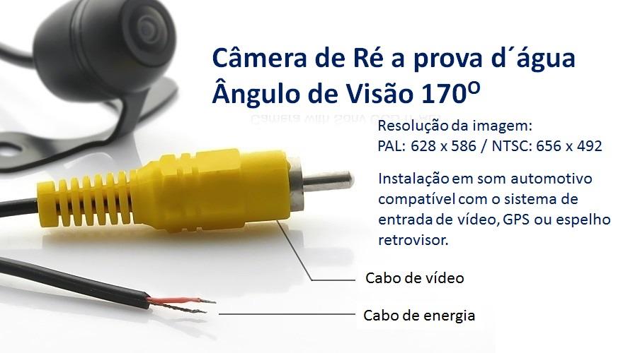 Câmera de Ré automotiva Multilaser AU001 Preto  - Mix Eletro