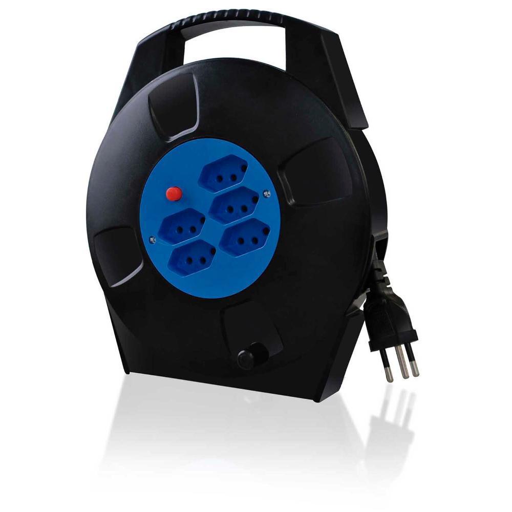Extensão Elétrica Multilaser Carretilha 10m 5 Tomadas 2p+T Wi279  - Mix Eletro