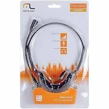 Headset Basico P2 Preto PH002 Multilaser  - Mix Eletro