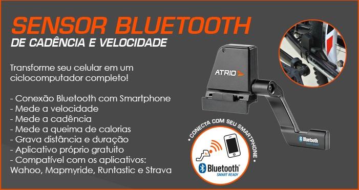 SENSOR DE VELOCIDADE E CADÊNCIA PARA BICICLETA BLUETOOTH CONEXÃO COM SMARTPHONE ATRIO ES056  - Mix Eletro