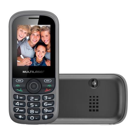 Celular Desbloqueado Multilaser UP 3 Chips Câmera VGA Rádio FM MP3 P3274  - Mix Eletro