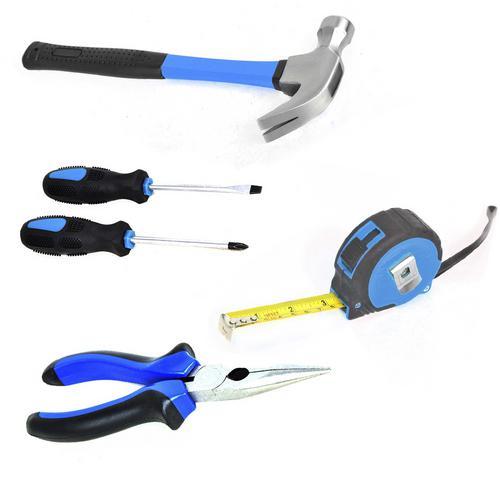 Kit Ferramentas dia a dia 5 peças alicate chave fenda Philips e Martelo AU338 Multilaser  - Mix Eletro