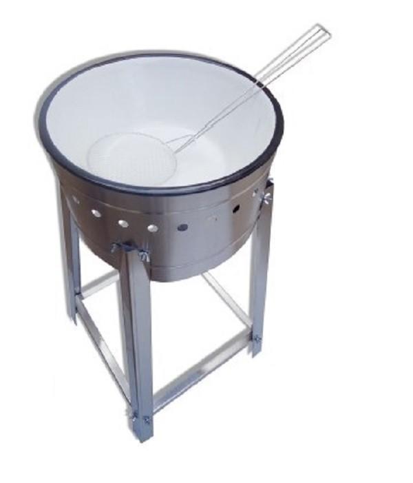 Fritadeira Tacho de fritura  a Gás alta pressão 7 Litros com cavalete - Ital Inox  - Mix Eletro