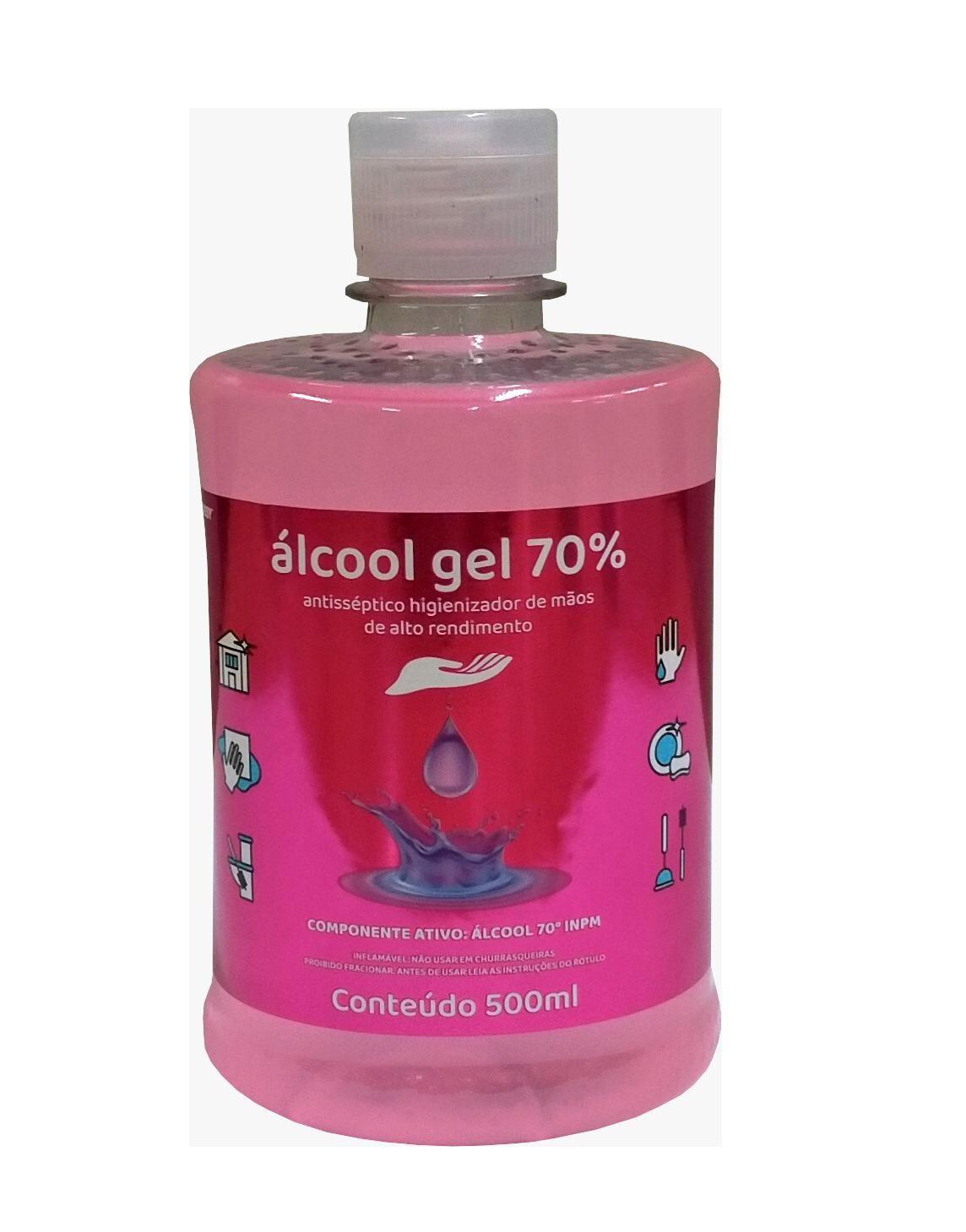 Álcool Gel 70% Antisséptico Higienizador de Mãos alto rendimento Chesy 500ml  - Mix Eletro