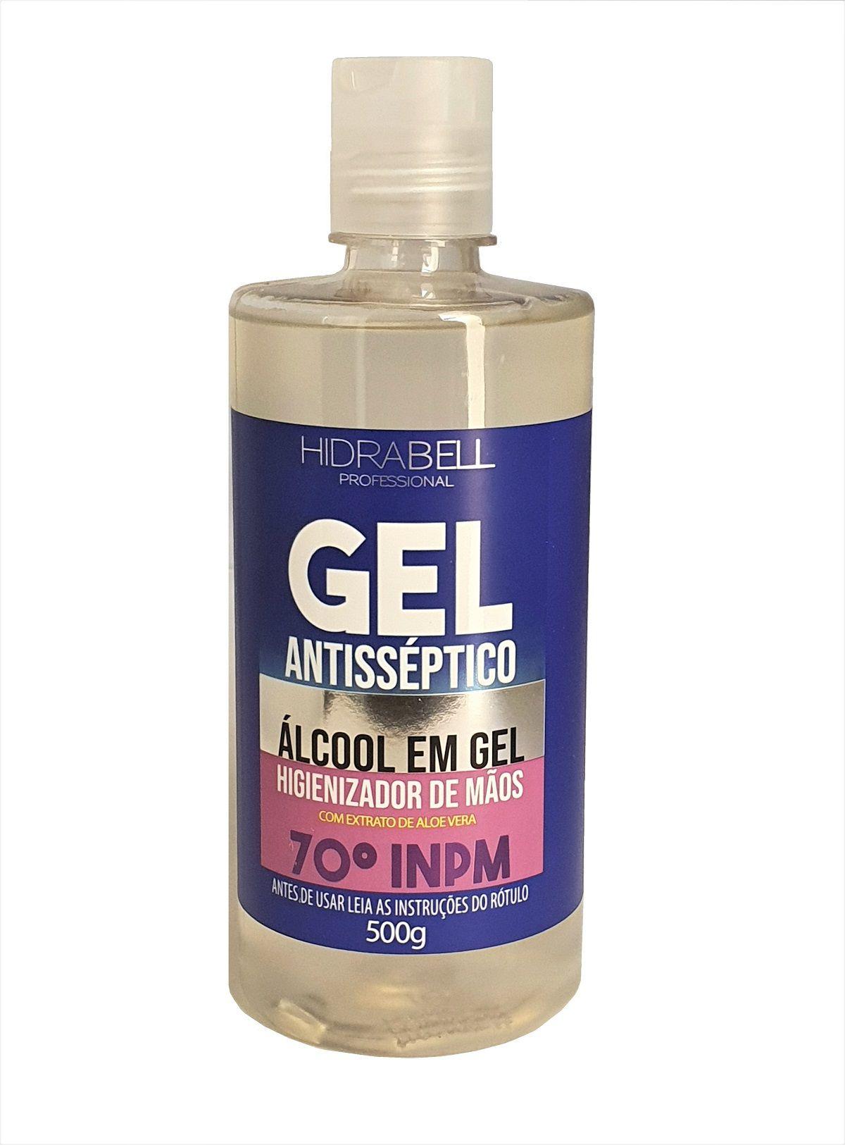 Álcool Gel 70% Antisséptico Higienizador de Mãos com aloe vera 500g Hidrabell  - Mix Eletro