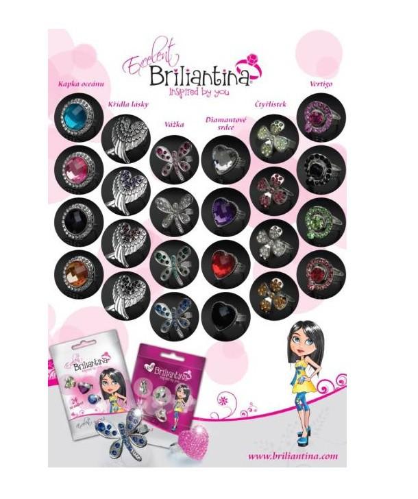 Anel Brilhantina Excelente Surpresa com lata Multikids BR238  - Mix Eletro